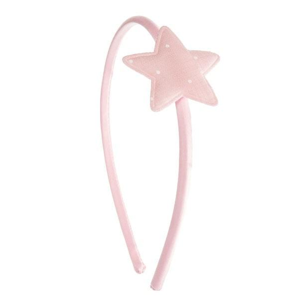 diadema niñas con estrella rosa