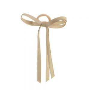 goma de pelo con lazo beige