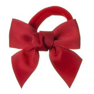 goma de pelo lazo rojo