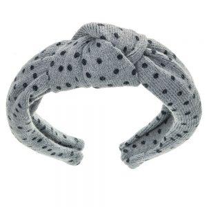 diadema nudo lana