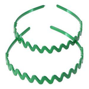 diadema zig zag verde