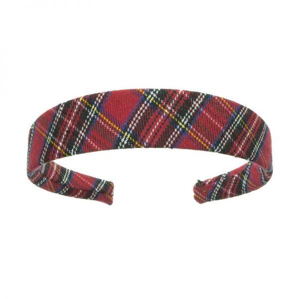 diadema escocesa roja