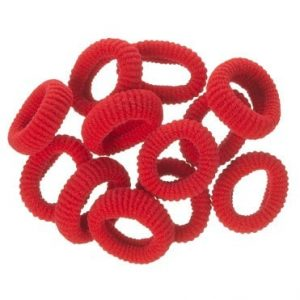 mini gomas pelo rojo