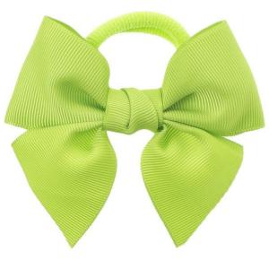 goma de pelo con laz verde