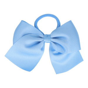 goma de pelo con lazo azul
