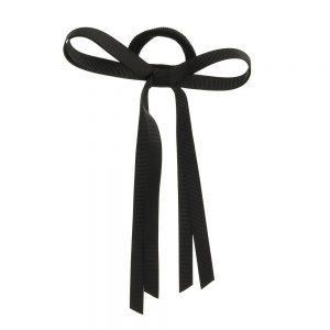 goma de pelo con lazo negro
