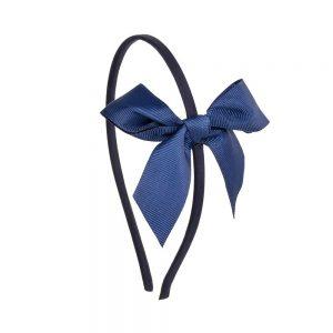 diadema lazo azul marino niñas